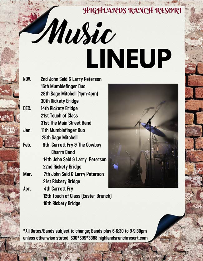 Music lineup 2020