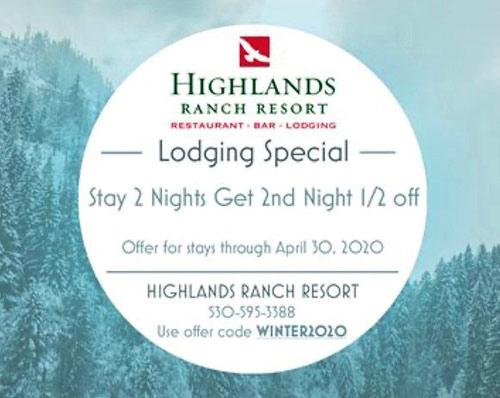 Highlands lodging special
